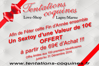 Love & Sex Shop 77 'Tentations coquines' Cadeau Fin 2014